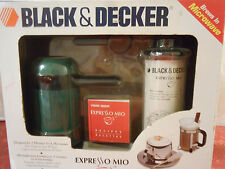 Black & Decker Expresso Mio Microwave Cappuccino Maker Kit EE200 With Frother
