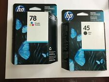 GENUINE HP 45 Black & 78 Tri-Color Ink Cartridge Combo NEW SEALED BOXES 6/2021+