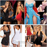 Sexy Women Lace Lingerie Nightwear Underwear G String Sleepwear Babydoll Dress