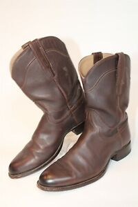 Tecovas Mens 9.5 D Hand Made Premium Leather Cowboy Western Boots 91452