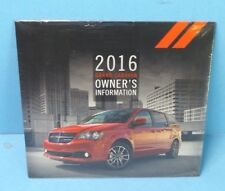 16 2016 Dodge Grand Caravan owners manual reference dvd BRAND NEW