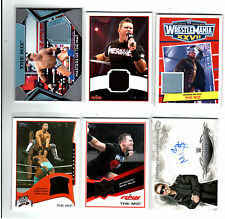WWE Lot of 5 Miz Shirt and Mat Relics 1 Authentic Autograph Topps Cards A
