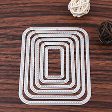 6x Rectangle Metal Cutting Dies Stencil Scrapbooking Card Paper Embossing Craft