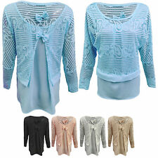 Long Sleeve Scoop Neck Casual Petite Tops & Shirts for Women