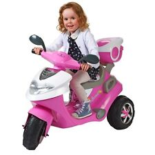 New Pink 6v Electric Scooter Ride On Girls Outdoor Indoor Bike