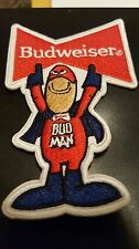 "BUDWEISER BUD MAN EMBROIDERED IRON ON PATCH 4 X 2.5"" NICE"