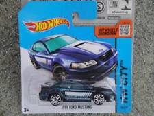 Hot Wheels 2014 #096/250 1999 FORD MUSTANG blue HW CITY