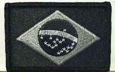 BRAZIL FLAG Patch Iron-On B & G Version Military Morale Tactical Flag #10