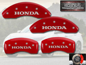 "2016-2021 ""Honda"" Civic EX LX Sport Front Rear Red MGP Brake Disc Caliper Covers"