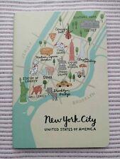 City Map Travel Journal Lined Notebook Designer New York