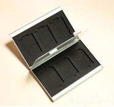 1pc Portable Aluminum Camera Memory 6SD Card Carrying Storage Case Safe Mini Box