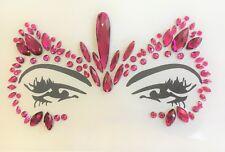 Gesicht und Körper Juwelen Edelstein Glitter MAKE-UP für Party BFG21 pink