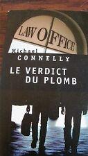Livre Le verdict du plomb de Michael CONNELLY