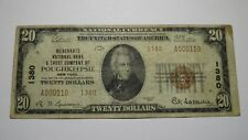 $20 1929 Poughkeepsie New York NY National Currency Bank Note Bill Ch #1380 FINE