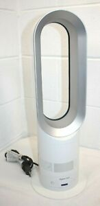 Dyson AM04 Hot + Cool Fan Heater Silver/White, WORKS!, no remote, Oscillating