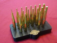 GRACE USA  20 PC BRASS PIN PUNCH AND ROLL PUNCH SET  GUNSMITH GUN CARE MACHINIST