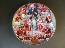 "DANBURY MINT MANCHESTER UNITED FC COLLECTOR PLATE ""PREMIERSHIP CHAMPIONS 06-07"""