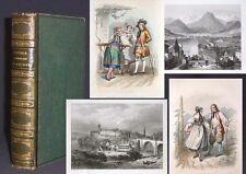 Voyage pittoresque en Suisse 1851 Schweiz 24 teils kol. Stahlstiche RAR!