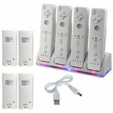 UK 4pcs Rechargeable Batteries Charger Dock Station for W II Remote Controller