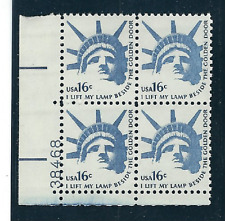 Scott #1599..... 16 Cent ...Statue of Liberty...5 Plate  Blocks...20 Stamps