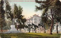 San Jose California~St James Hotel~McKinley Monument~c1910 Postcard