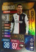 2019/20 UEFA Champions League Match Attax CRISTIANO RONALDO Limited Ed CARD LE12