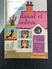 ANCIEN LIVRE SCOLAIRE DANIEL ET VALERIE Livret n°2 1983