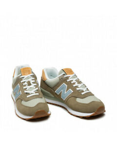 Sneakers Shoes MAN New Balance Suede Fabric Green 574
