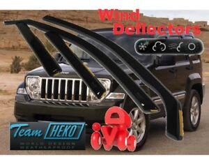 For JEEP CHEROKEE / Liberty 2007 - 2012  5.doors Wind deflectors 4.pc HEKO 19121