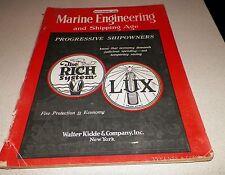 November 1926 Marine Engineering and Shipping Age Magazine Progressive Shipowner