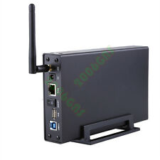 USB 3.0 WiFi SATA Hard Drive Enclosure HDD NAS Network Storage Wireless Upto 4Tb