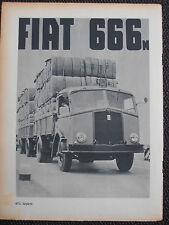 1939 FIAT 666 AUTOCARRO CAMION PUBBLICITA ADVERTISING LKW FIAT TRUCK/LORRY
