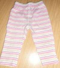 George girls' pink striped leggings age 6-9 months