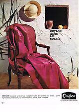 PUBLICITE  1971   CRYLOR   RIDEAUX VOILAGES