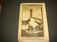 NY American Newspaper Gravure,Nov 17,1918,WWI,German Machine Gun Posts,Aisne,Hun
