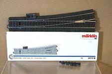 MARKLIN MäRKLIN 24711 C TRACK LEFT HAND POINT 236 mm 12.1 degree BOXED pz