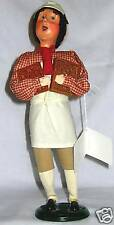 Byers Choice~Caroler~Man with Molds~Williamsburg~Tan~Maroon~Brown~Retired~NEW
