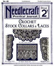 Needlecraft Practical Journal #68 c.1908 Crochet Stock Collars & Laces