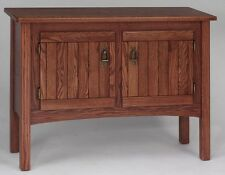 #939 Solid Oak Storage Mission Sofa Table