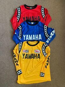 Yamaha Vintage Motocross Jerseys Shirts Set of 3 AHRMA Bob Hannah JT Racing L