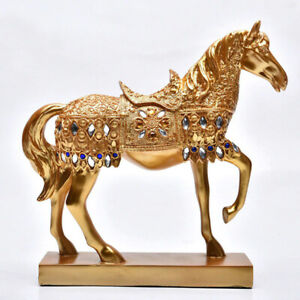 Stallion Resin Home Figurines Luxury Horse Crafts Statue Free Shipping