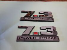 NEW  7.3L 7.3 POWER STROKE TURBO DIESEL FENDER  EMBLEMS - PAIR POWERSTROKE