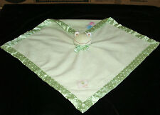 Baby Baby Green Frog Security Blanket Polka Dots Satin Trim Bow Blankets Beyond