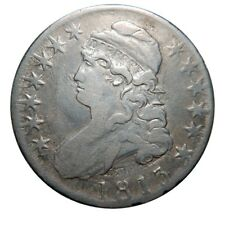 Capped bust half dollar 1813 double-struck clash collector coin