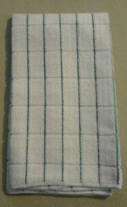 15 X 25 Microfiber Kitchen towel Small Vertical Teal Stripes 264388