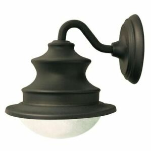 GAMA SONIC Barn Solar Brown Outdoor Integrated LED Wall Light Sconce GS-122