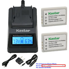 Kastar Battery LCD Fast Charger for Olympus Li80B OLYMPUS T-100 T-110 X-36 X-960