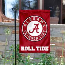 Alabama Crimson Tide Circle Logo Garden Flag and Yard Banner