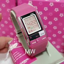 CASIO 50M WORLD TIME Girls Ladies PINK Resin Poptone LCD Digital Watch LDF-52-4