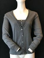 LAURA ASHLEY Women's Mock Cardigan Cotton Spotty Long Sleeve Top UK 16 Chest 42""